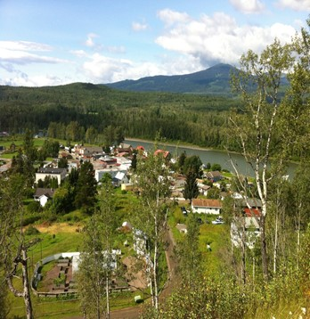 Photograph overlooking Gitanmax, British Columbia.