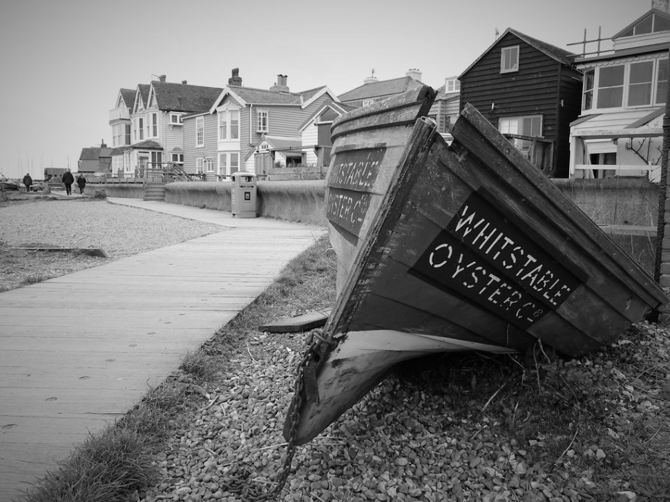Old oyster boat by the shore at Whitstable