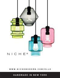 Colorful Glass Pendant Lighting in Elle Decoration UK
