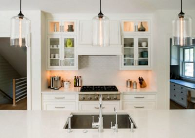 kitchen pendant lights dividers cabinets clear glass add modern charm to cape cod lighting in