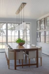 A Ceiling Canopy Creates a Sleek Finish for this Dining ...