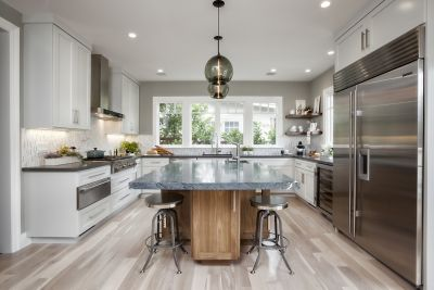 Contemporary Kitchen Island Pendants Spotted in California