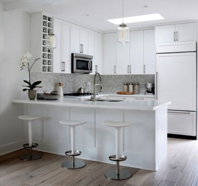 kitchen pendants cabinets kansas city 2 white kitchens with contemporary crystal pendant lighting