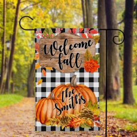 Welcome Fall Garden Flag, Pumpkin Garden Flag, Fall Garden Flag, Halloween Garden Flag, Garden Flags, Autumn Garden Flag Fl27 All Over Printed (6228)