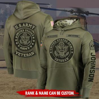 Gift for Military Custom Us Army Veteran Hoodie Veteran Gifts 3D Design All Over Printed(6888)