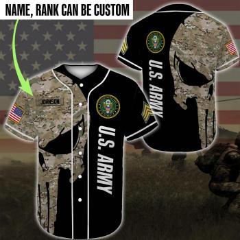 Custom Baseball Shirt United States Army Veteran DH20- All Over Printed(8886)