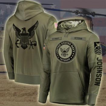 Custom US Navy veteran Hoodie H4 Shirt All Over Printed(6888)