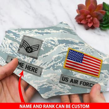 US Air Force Custom Face Mask For Military,Gifts For Veteran All Over Printed