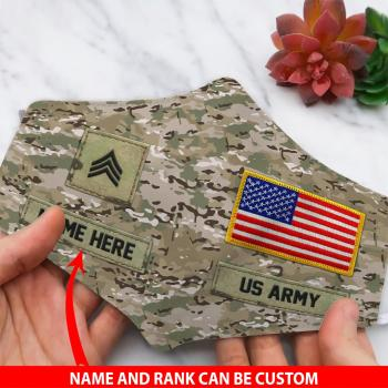 US Army Custom Face Mask For Military,Gifts For Veteran All Over Printed