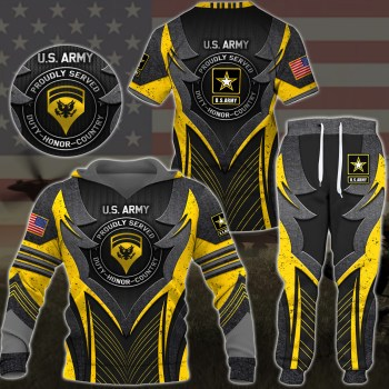 U.S. Army Military Armor Style Hoodie, Custom Ranks Hoodie, Jogger All Over Printed