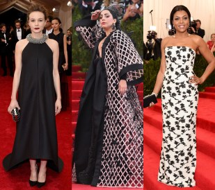 Met Gala 2015 Wang's dates to the Met Gala reflected his love of pop culture. Lady Gaga, who attended his fall 2015 show, showed up in an elaborate cape while Taraji P. Henson opted for an elegant beaded gown. And Carey Mulligan reportedly hid her growing pregnancy under a trapeze silhouette.