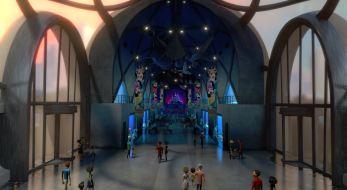 Interior of Shanghai Aquarium Set- Final Film Shot