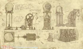 DaVinci's drawing of Wabac Machine