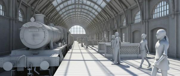 KX station upper level. Model by Artist Kim Frederiksen