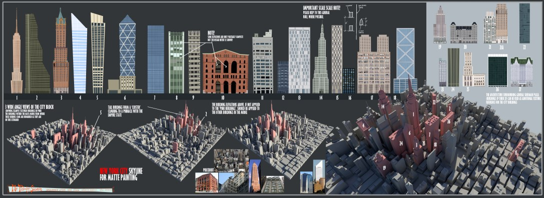 NY buildings for matte painting dep't