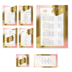 Pink Glam Brand Marketing Kit