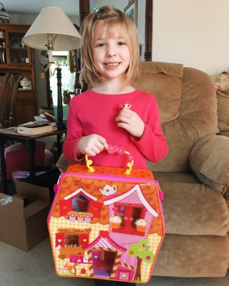 Maddie with her favorite gift.