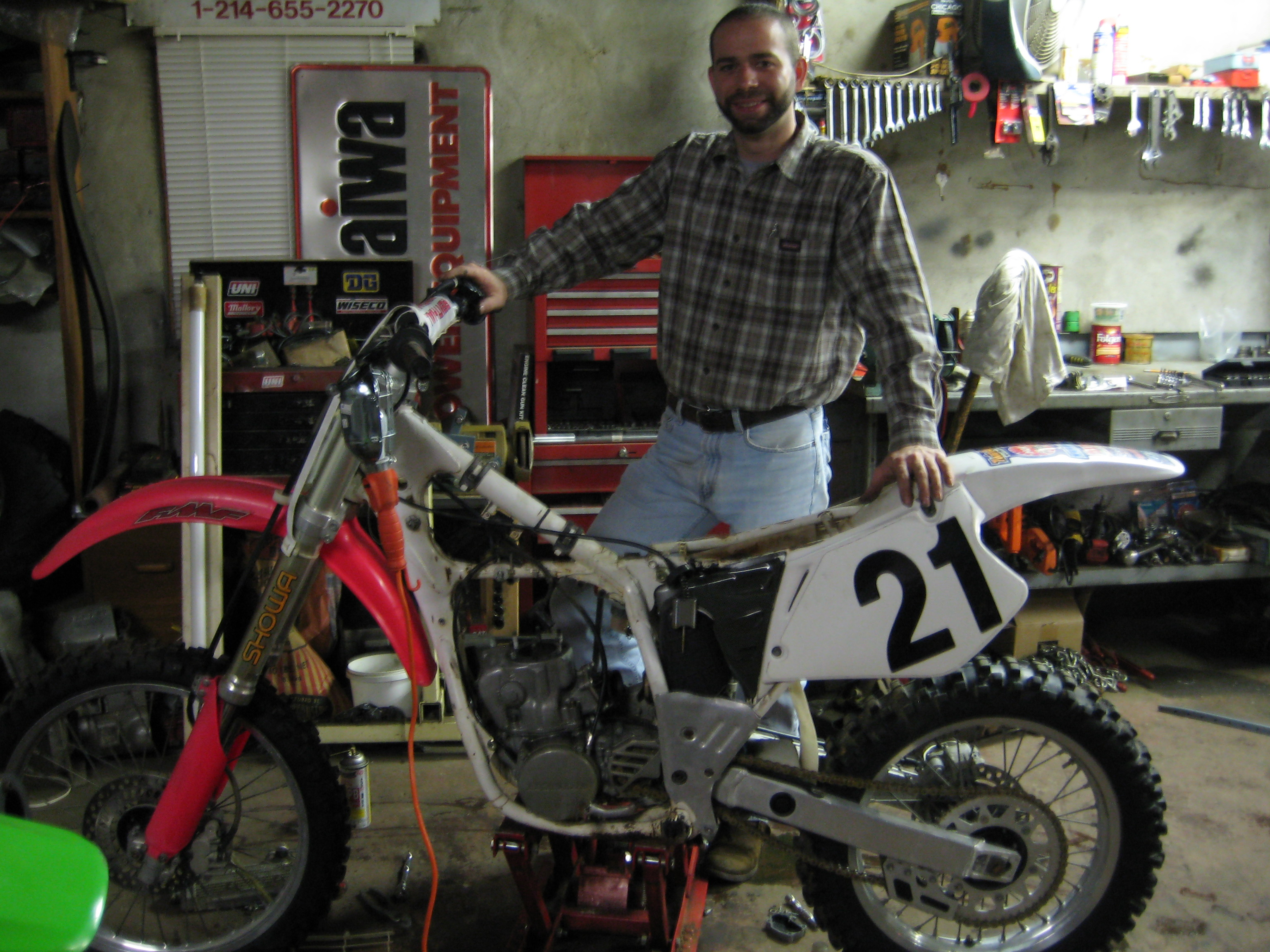 CR250 in the Shop