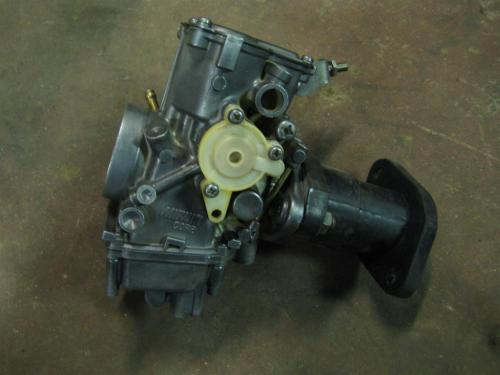 small resolution of warrior carb on the moto 4 project yamaha 350