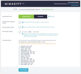 Imagify main page