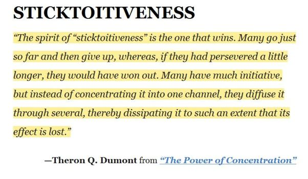 Sticktoitiveness