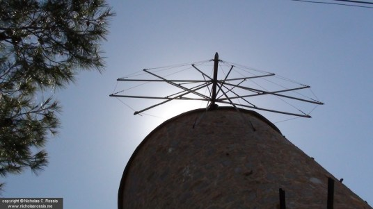 Windmill on the Island of Hydra, Greece