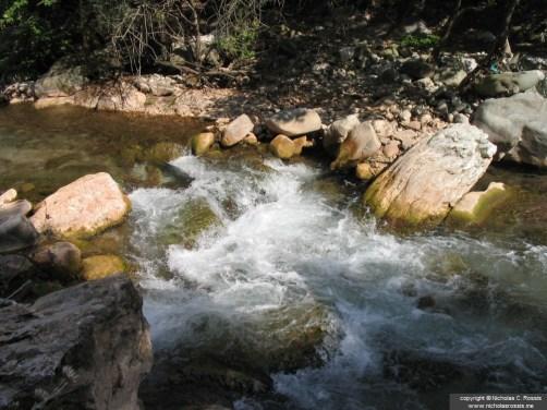 River in Karpenisi, Greece