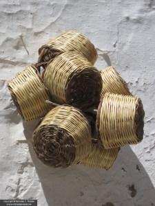 Wicker baskets, Hydra, Greece