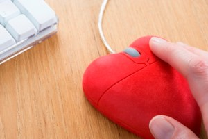 Heart-Shaped Computer Mouse