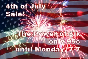 The Power of Six, short science fiction stories, on July 4th sale