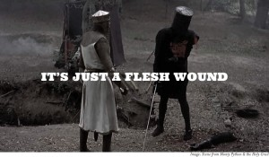 Just a flesh wound | From the blog of Nicholas C. Rossis, author of science fiction, the Pearseus epic fantasy series and children's books
