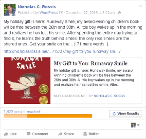 FB ads - subscribers - Smile | From the blog of Nicholas C. Rossis, author of science fiction, the Pearseus epic fantasy series and children's books