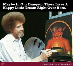 Bob Ross Dungeon Master | From the blog of Nicholas C. Rossis, author of science fiction, the Pearseus epic fantasy series and children's books