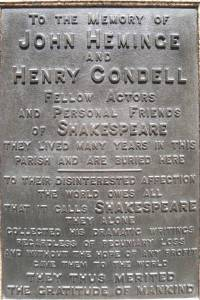 Heminge-Condell Memorial | From the blog of Nicholas C. Rossis, author of science fiction, the Pearseus epic fantasy series and children's books