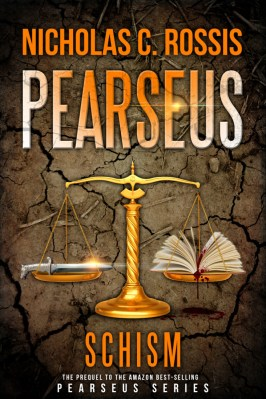 Pearseus: Schism book cover | From the blog of Nicholas C. Rossis, author of science fiction, the Pearseus epic fantasy series and children's books