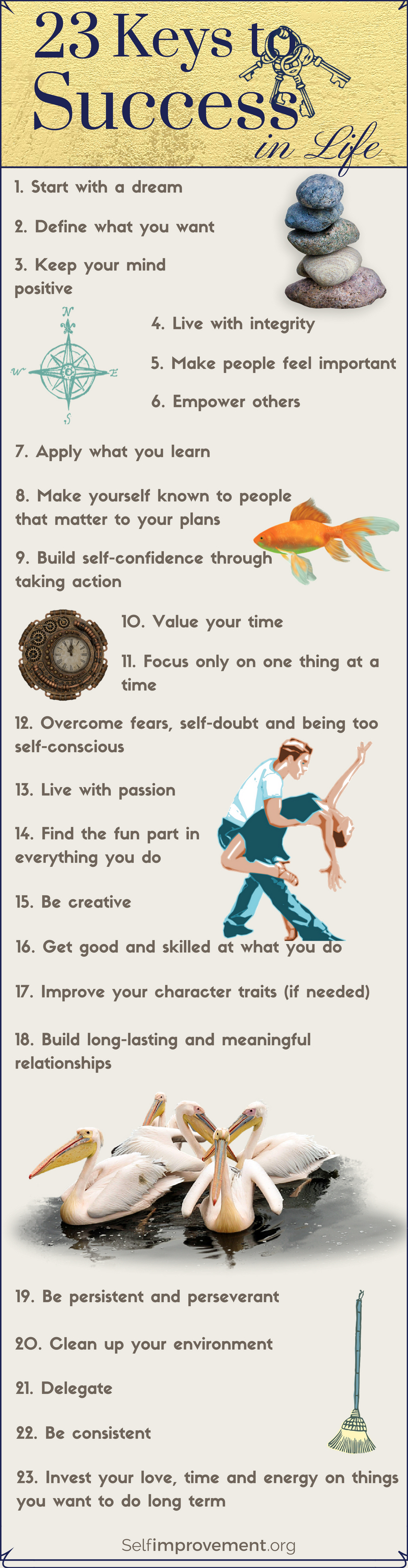 23 Keys to Success in Life by Carmen Jacob, selfimprovement.org | From the blog of Nicholas C. Rossis, author of science fiction, the Pearseus epic fantasy series and children's books