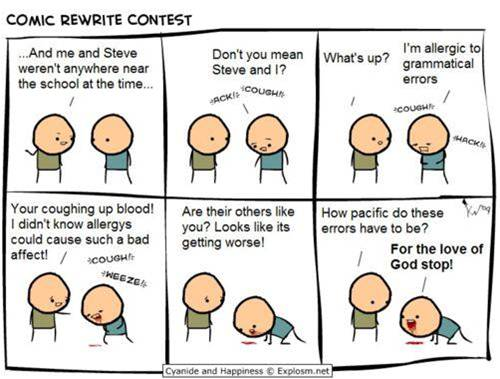 Grammar Cyanide and Happiness | From the blog of Nicholas C. Rossis, author of science fiction, the Pearseus epic fantasy series and children's books