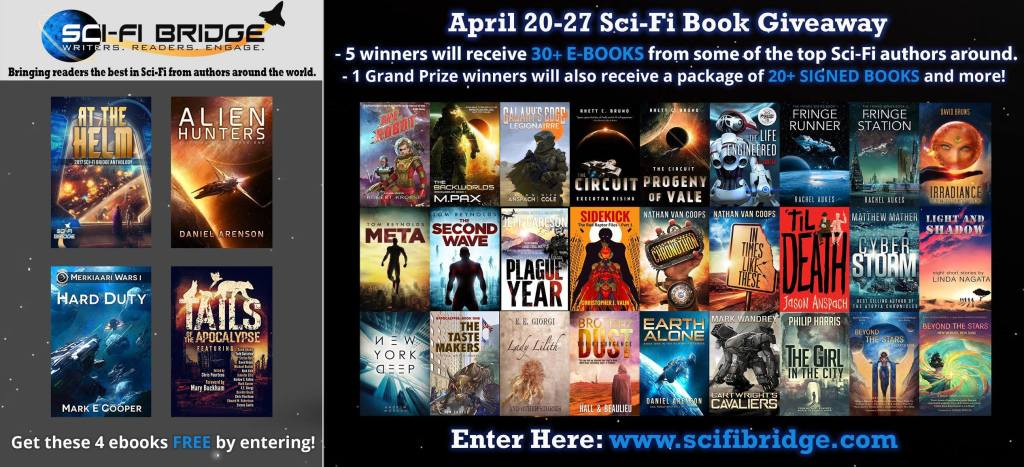 SciFi Bridge giveaway | From the blog of Nicholas C. Rossis, author of science fiction, the Pearseus epic fantasy series and children's books