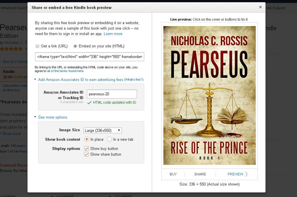 Kindle Instant Preview | From the blog of Nicholas C. Rossis, author of science fiction, the Pearseus epic fantasy series and children's books
