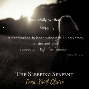 The Sleeping Serpent by Luna Saint Claire | From the blog of Nicholas C. Rossis, author of science fiction, the Pearseus epic fantasy series and children's books