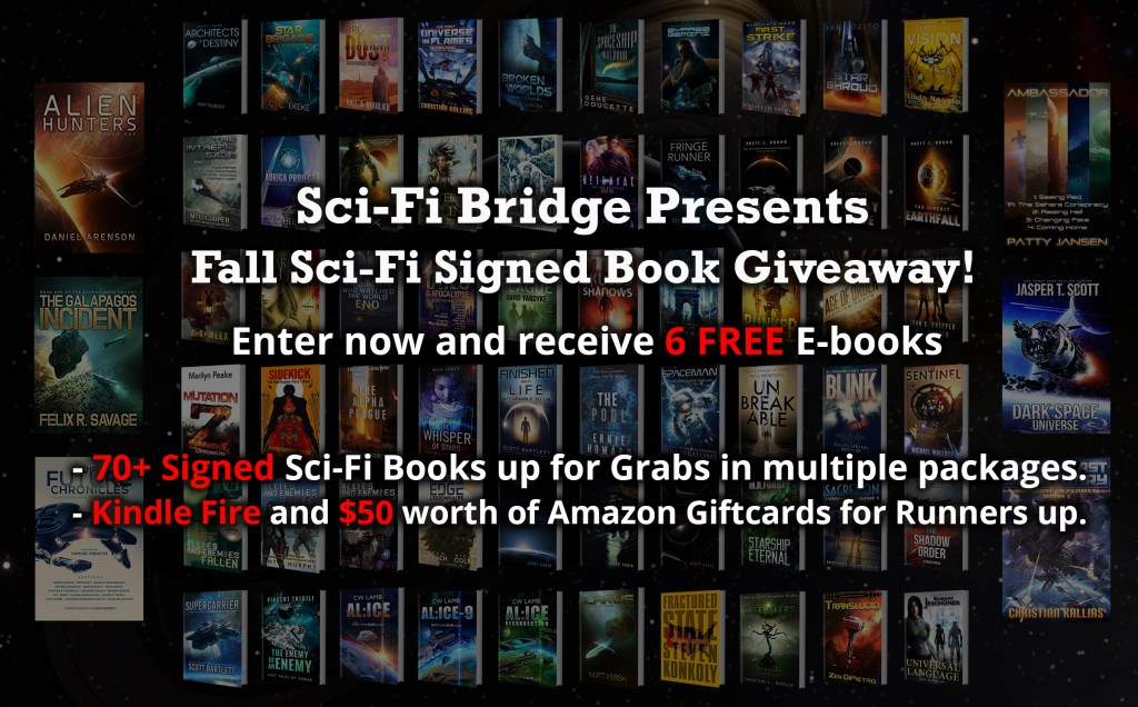 Sci-Fi Bridge Giveaway | From the blog of Nicholas C. Rossis, author of science fiction, the Pearseus epic fantasy series and children's books