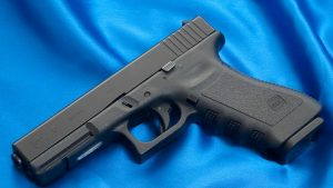 Glock firearm   From the blog of Nicholas C. Rossis, author of science fiction, the Pearseus epic fantasy series and children's book