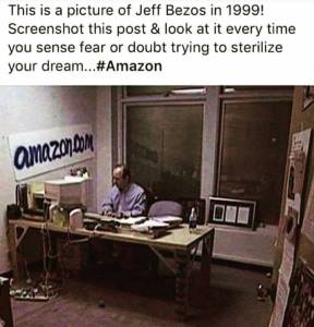 Amazon Bezos 1999 | From the blog of Nicholas C. Rossis, author of science fiction, the Pearseus epic fantasy series and children's books