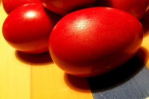 Greek Easter red eggs   From the blog of Nicholas C. Rossis, author of science fiction, the Pearseus epic fantasy series and children's book