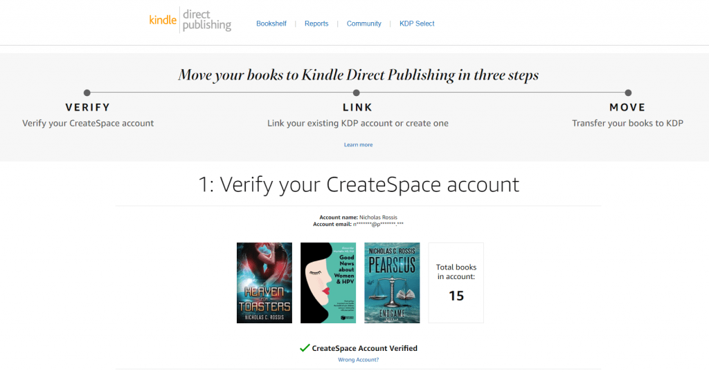 How to import Createspace books into KDP Print | From the blog of Nicholas C. Rossis, author of science fiction, the Pearseus epic fantasy series and children's book