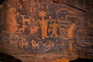 Prehistoric Native American petroglyph | From the blog of Nicholas C. Rossis, author of science fiction, the Pearseus epic fantasy series and children's books