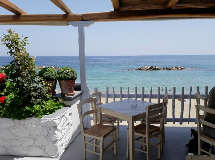 View from a Greek restaurant   From the blog of Nicholas C. Rossis, author of science fiction, the Pearseus epic fantasy series and children's book