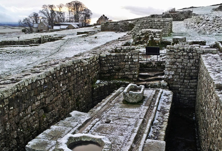 Housesteads Roman fort toilet | From the blog of Nicholas C. Rossis, author of science fiction, the Pearseus epic fantasy series and children's book