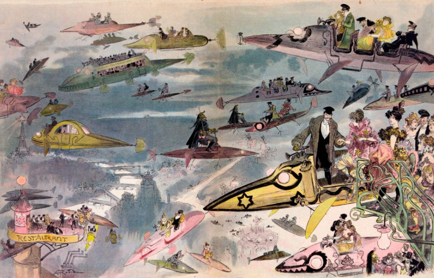 1882 postcard skies above Paris | From the blog of Nicholas C. Rossis, author of science fiction, the Pearseus epic fantasy series and children's books