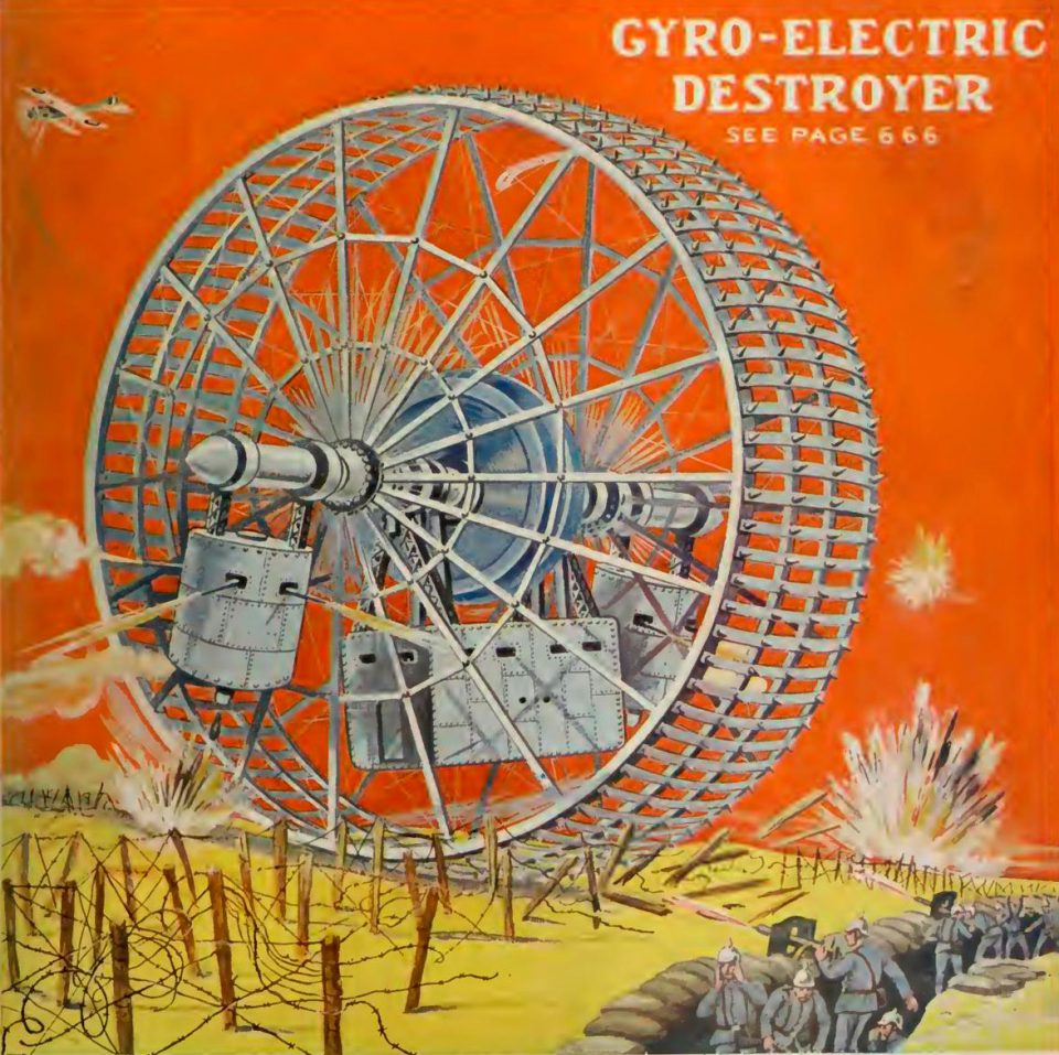 1914 gyro-electric destroyer | From the blog of Nicholas C. Rossis, author of science fiction, the Pearseus epic fantasy series and children's books